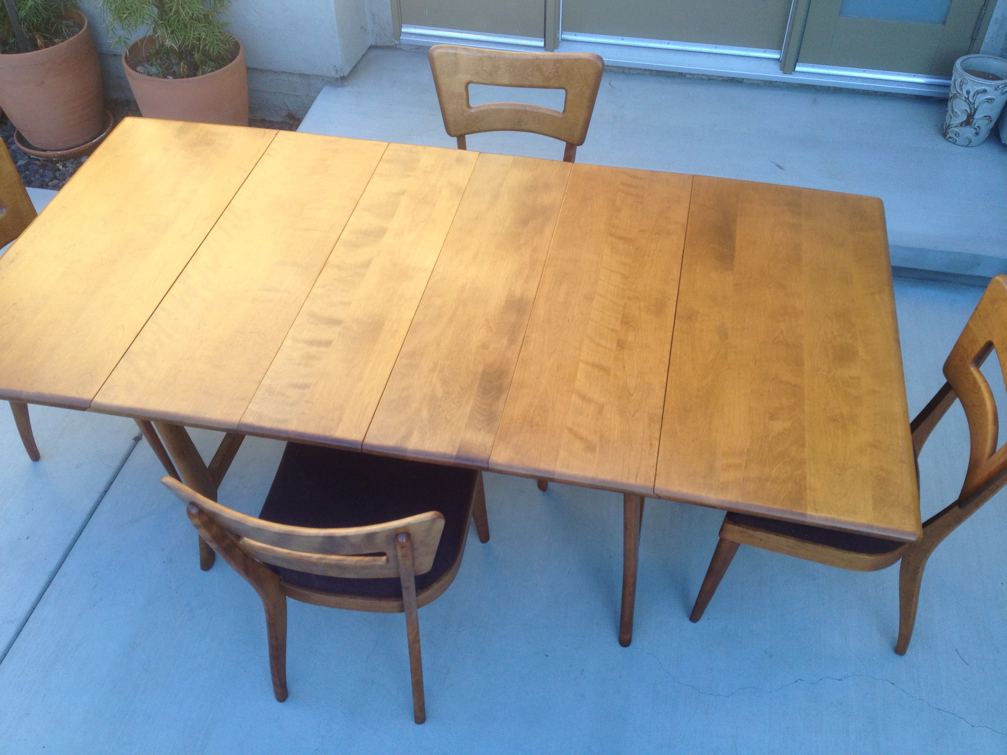 heywood wakefield dining table and chairs bean bag set 43 4  sold