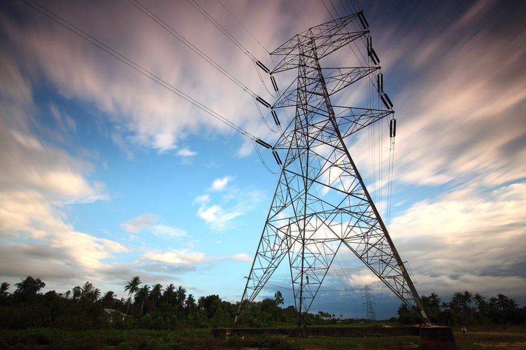 Structure de transport de l'électricité.