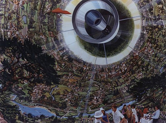 1970s space colony art by nasa 2