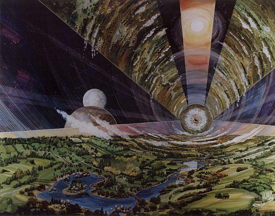 1970s space colony art by nasa 6