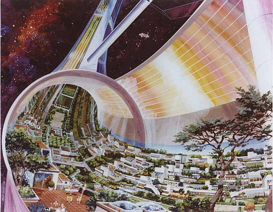 1970s space colony art by nasa 7