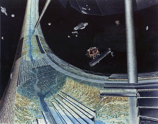 1970s space colony art by nasa 8