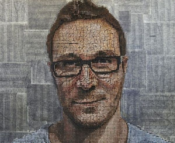 3D Portraits Made From Screws