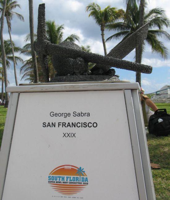49ers superbowl sculpture 2