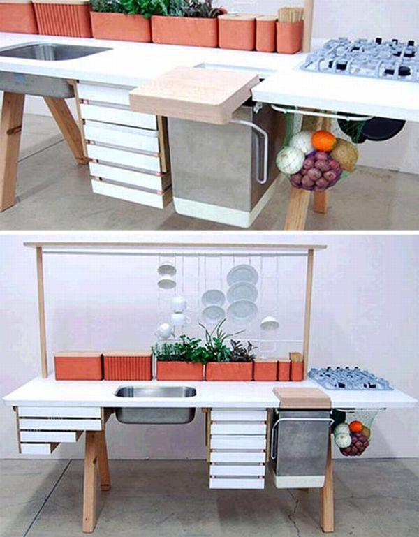 All-In-One Modern Kitchen Eco-Island