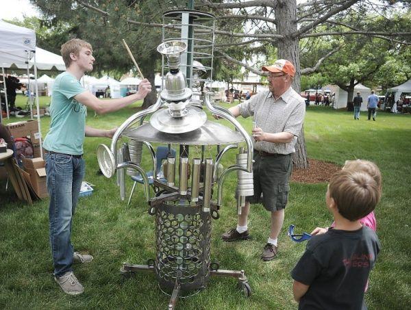 Artist displays recycled treasure at Summerfest