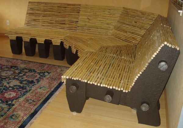 Bamboo and Cardboard Couch 3