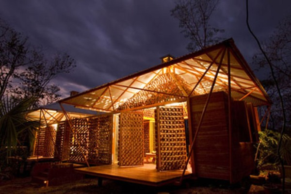 Best bamboo hut designs from around the world green for Adobe house construction cost