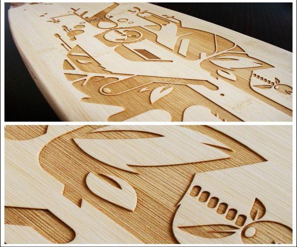 Bamboo laser long board