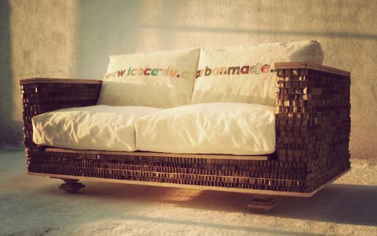 basic love seat made from recycled materials 1