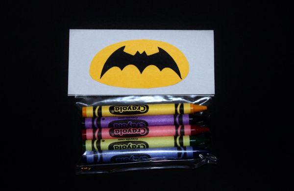 Batman Emblem crayons