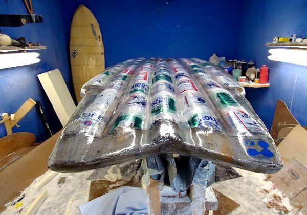 Beer Can Surfboard