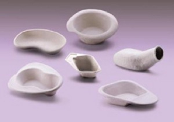 Biodegradable bedpans by Vernacare
