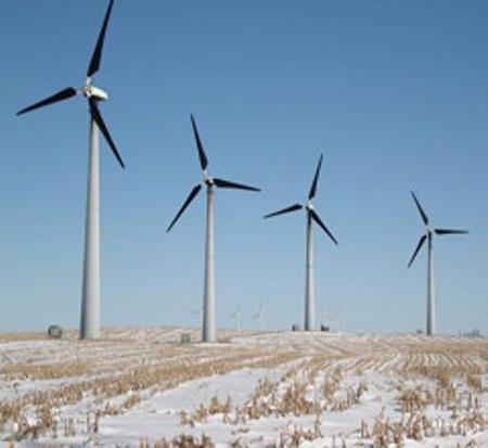 Black-Bladed Wind Turbines