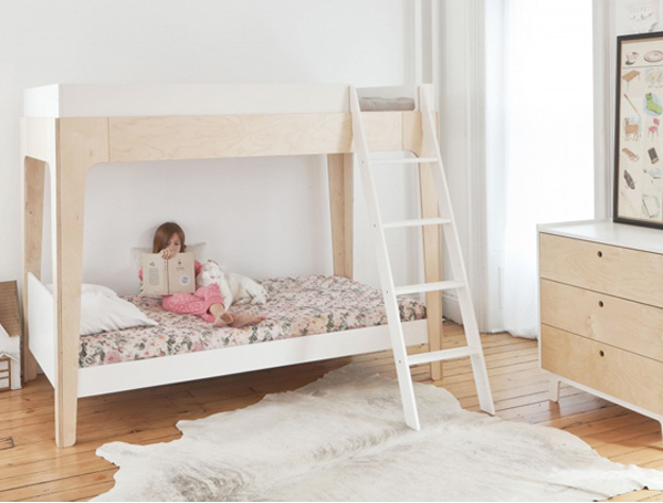 Superb Eco friendly furniture maker Oeuf designs a brilliant piece of bunk bed with special facilities for kids The stylish and chic Oeuf Perch bunk bed will have