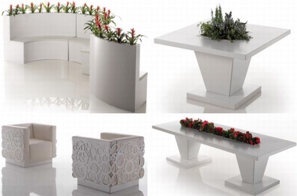 bysteels eco friendly white outdoor furniture