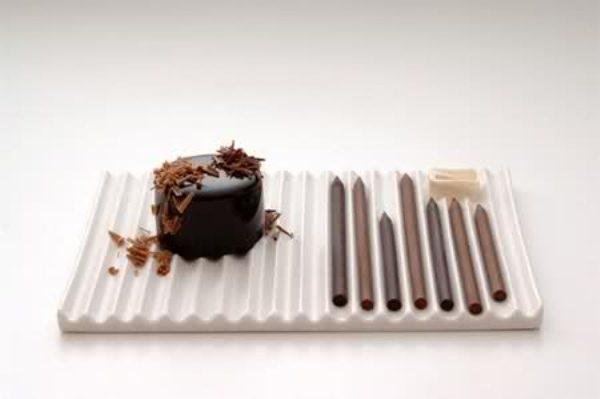 Chocolate pencils