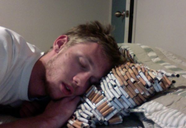 Cigarette butts Pillow