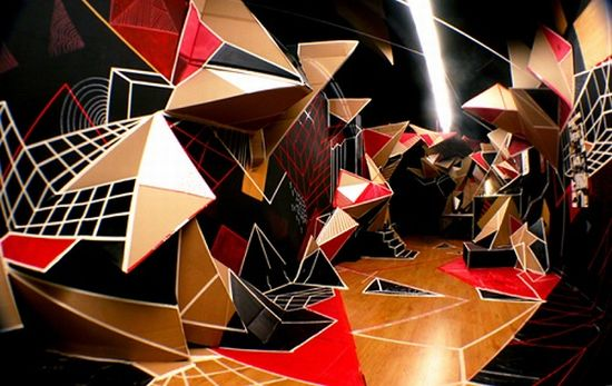 clemens behr recycled cardboard origami art 3