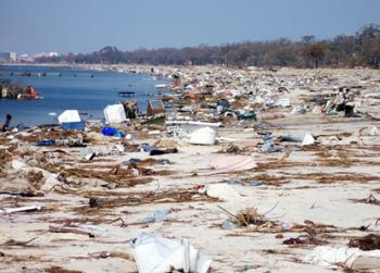 coastline ravaged by hurricane katrina 9