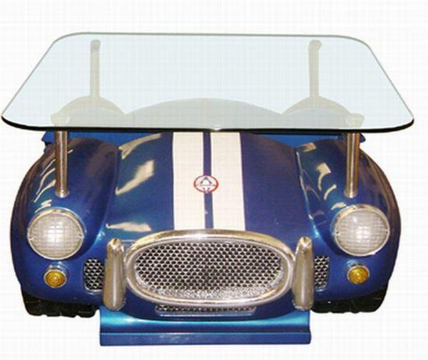Convertible car coffee table