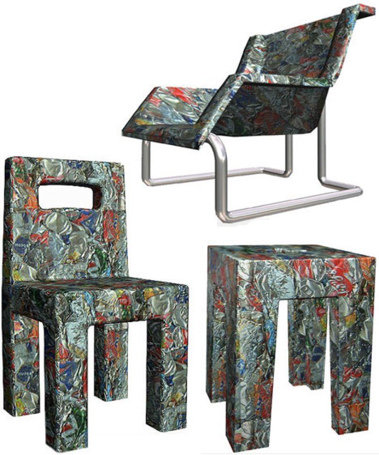 Crushed-can Chair
