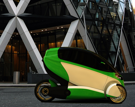 e true ev concept gets going on three wheels 8