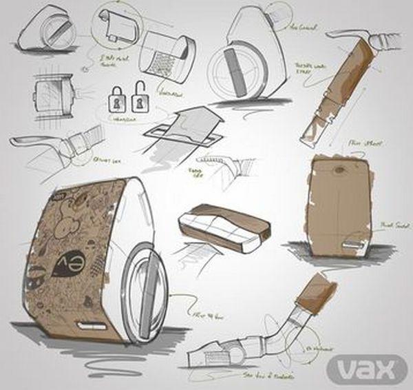 Cardboard Vacuum Cleaner Vax Ev