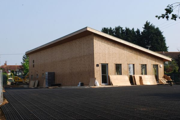Eco-friendly village hall