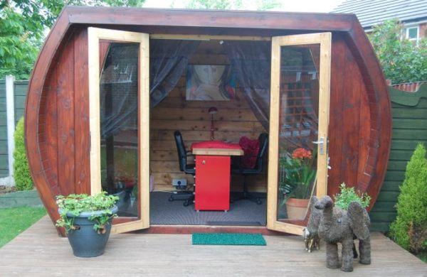 Eco shed turned nail salon 1