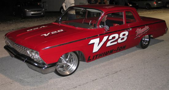 Electric 1962 Chevy Bel Air Drag Racer Does Wonders On The Drag