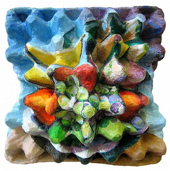 eggcubism recycled egg carton art 10