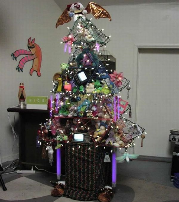 Electronic Junk Christmas Tree