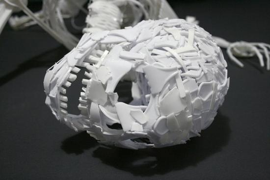 elliott mariess skeletal art recycled sculpture 5
