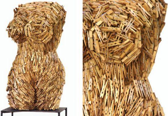 female torsos recycled material 14