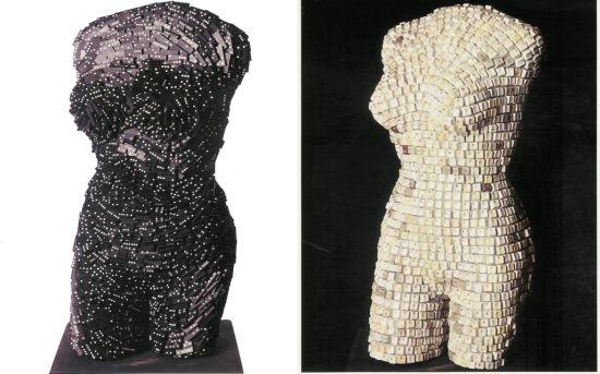 female torsos recycled material 3