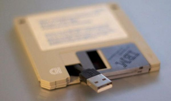 Floppy Disk Turned Into USB Drive