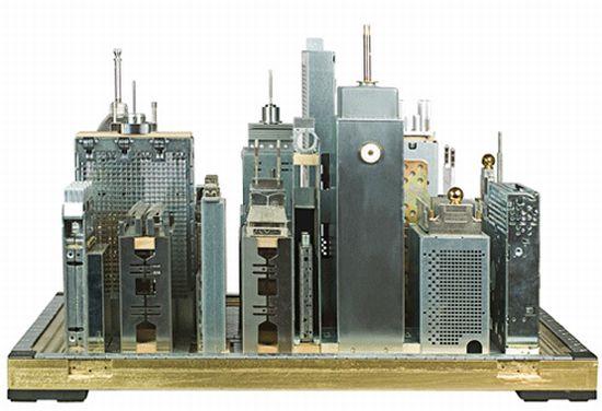 franco recchias recycled computer part sculptures