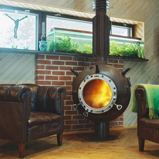 furniture made from old naval mines 1