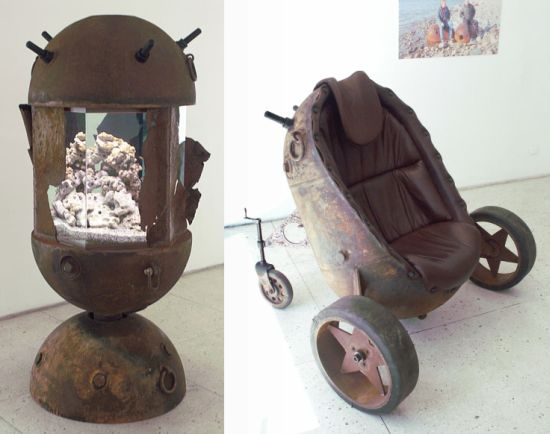furniture made from old naval mines 2