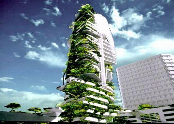 Green building farming