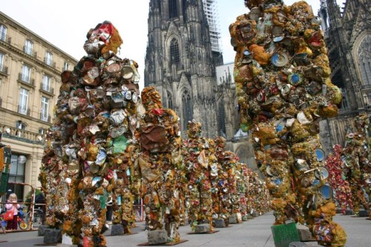 HA Schult made Sculpture