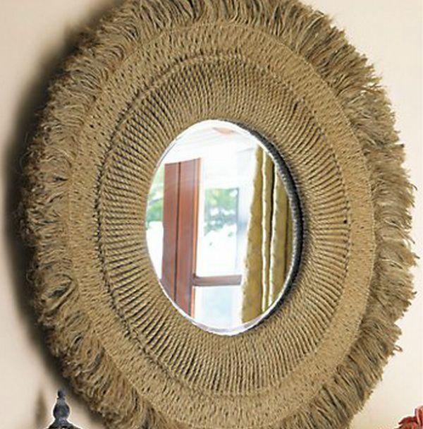 Hemp rope mirror