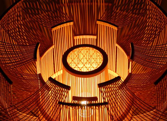 Hokore bamboo floor lamp extols power of flower