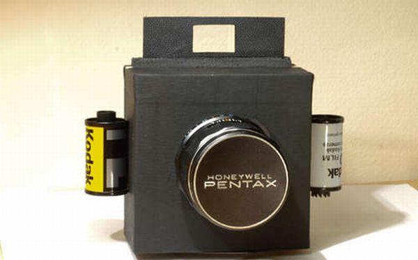 homemade 35mm box camera