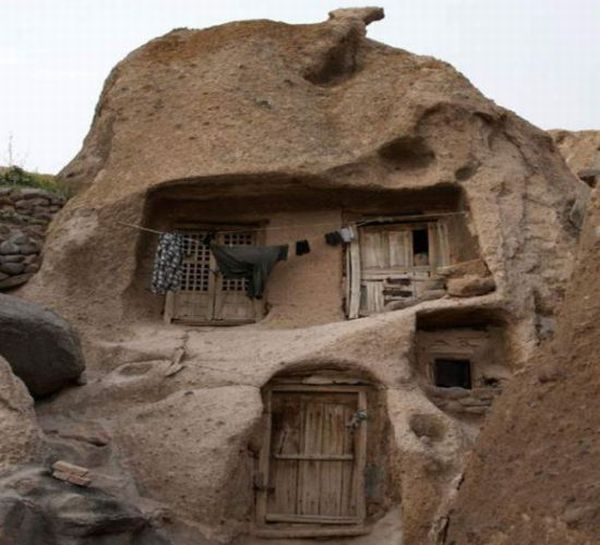 homes built inside caves