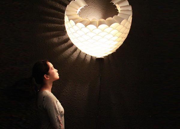 Honeycomb wall lamp 1