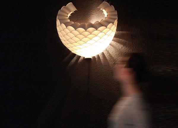 Honeycomb wall lamp 2