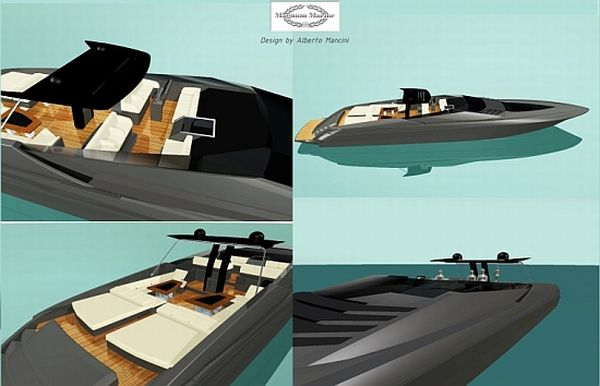 hybrid Magnum 100' yacht