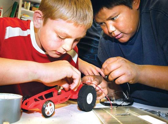 ignacio kids create solar car 2